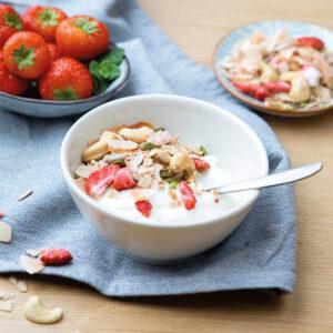 PowerSlim Granola cashew aardbei