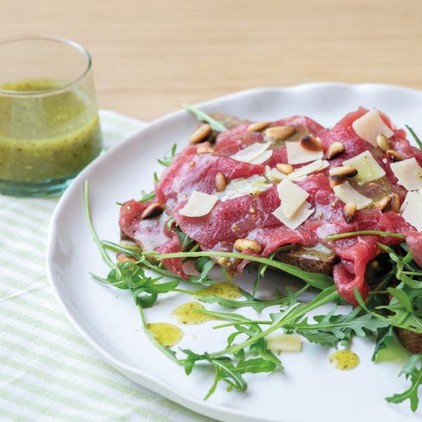 Powerslim Pestodressing op brood