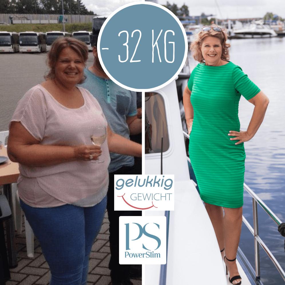 Powerslim ervaringen Sandra 32 kilo