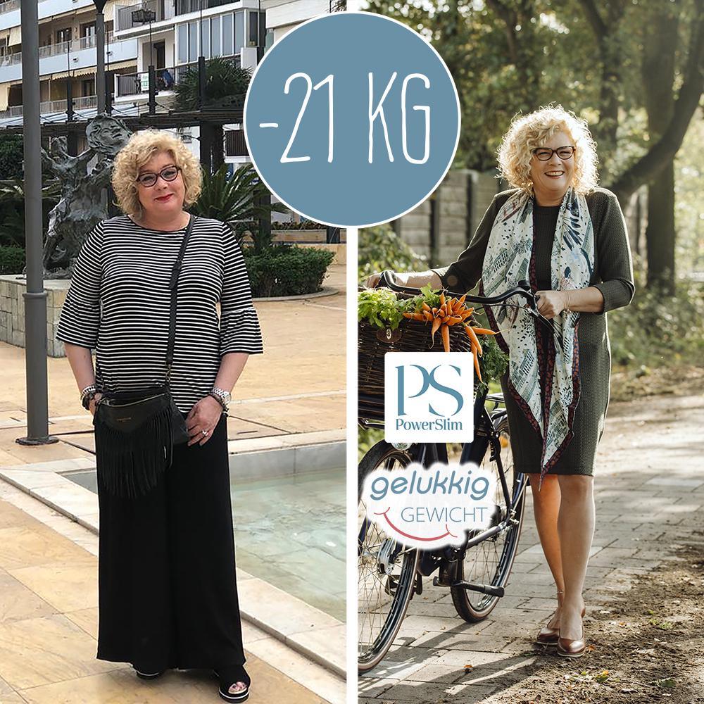 Powerslim voor en na foto Tonny 21 kilo
